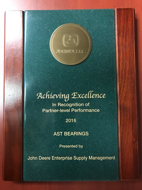 "AST Recognized as John Deere ""Partner-Level Supplier"""