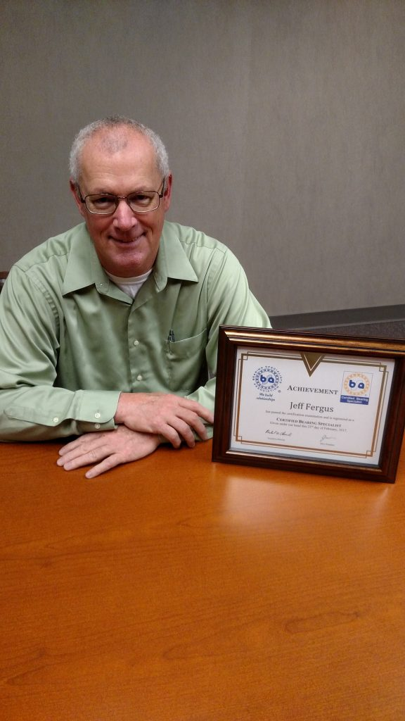 COMPANY NEWS: AST's Jeff Fergus Named Certified Bearing Specialist