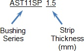 Strip Bushing (plain bearing) Nomenclature
