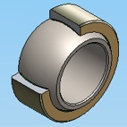 Stainless Steel-on-PTFE Fabric Material SPB Bearings